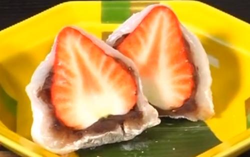 制作草莓大福