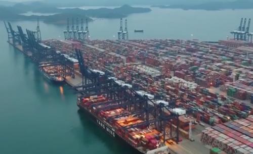 武警守护全球单体最大集装箱码头复工