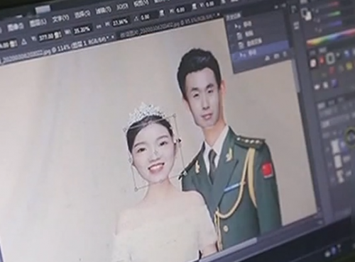 [2020-03-28]城事特搜:武警PS婚纱照给武汉抗疫妻子