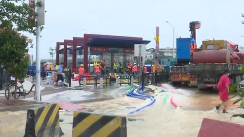 广州地铁13号线积极排险 启用公交接驳