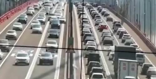 虎門大橋仍封閉 南沙大橋白天車多緩慢