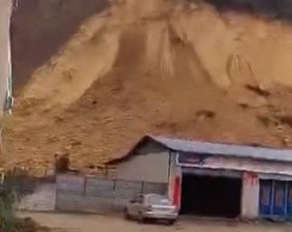 [2019-03-09]DV现场:肇庆:山体突发崩塌 泥土倾泻而下