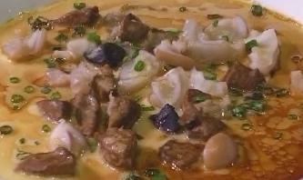龙趸鱼杂蒸水蛋