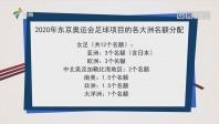 2020年东京奥运会足球项目的各大洲名额分配
