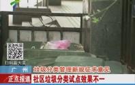 广州:垃圾分类管理新规征求意见 社区垃圾分类试点效果不一