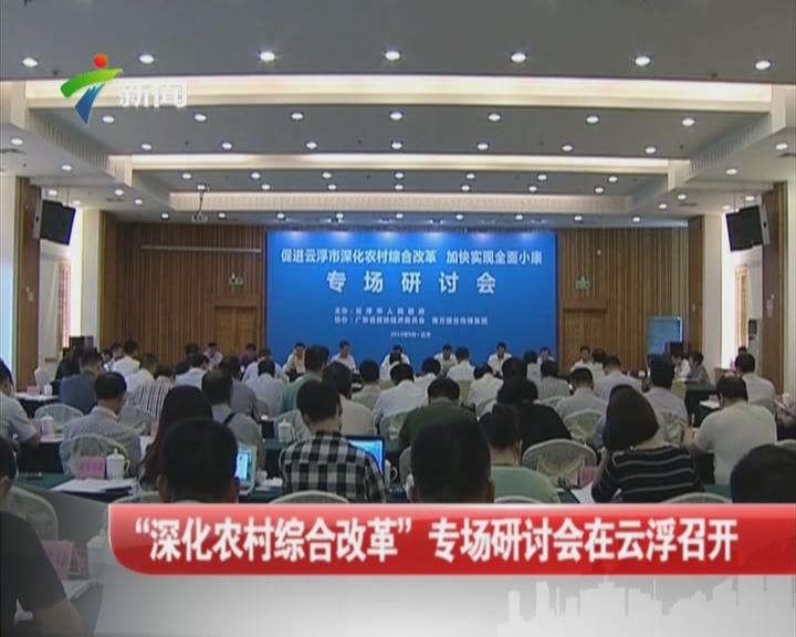 """?#21543;?#21270;农村综合改革""""专场研讨会在云浮召开"""