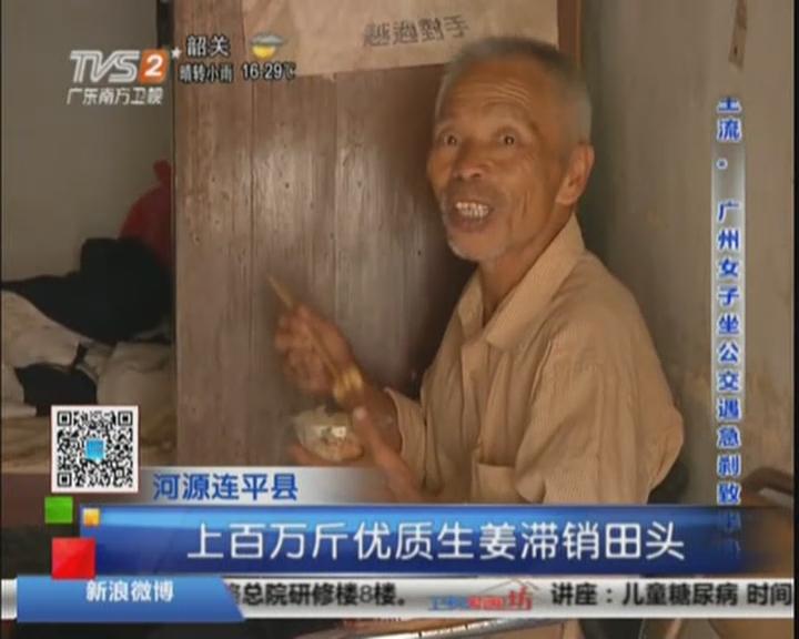 河源连平县:上百万斤优质生姜滞销田头