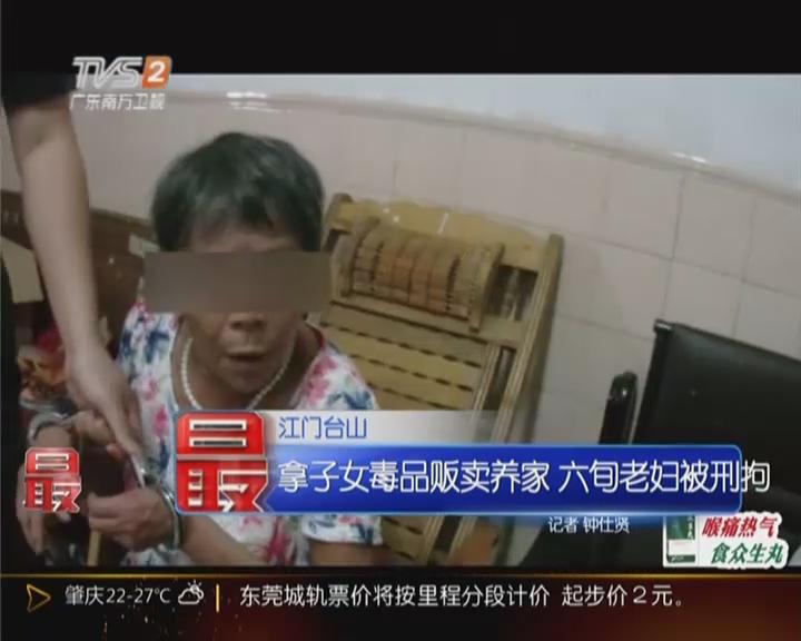 江门台山:拿子女毒品贩卖养家  六旬老妇被刑拘