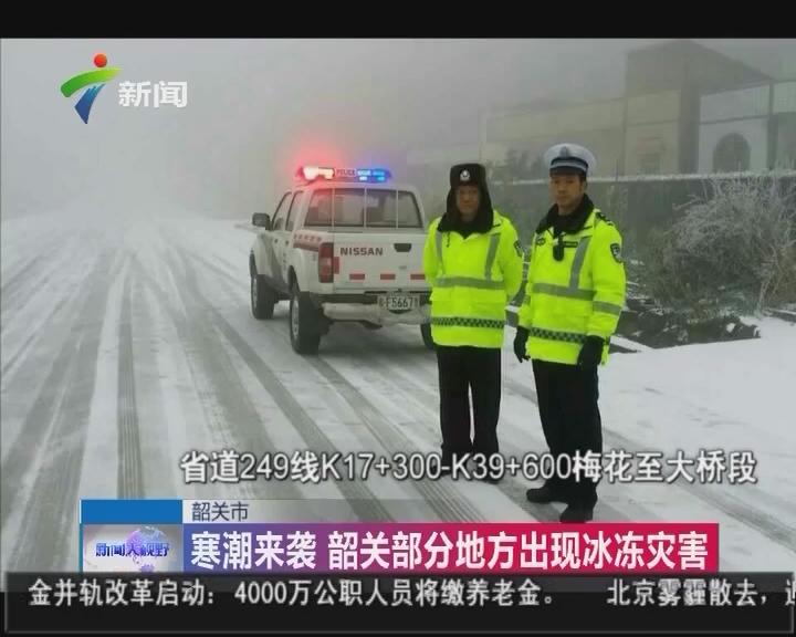 韶关市:寒潮来袭 韶关部分地方出现冰冻灾害