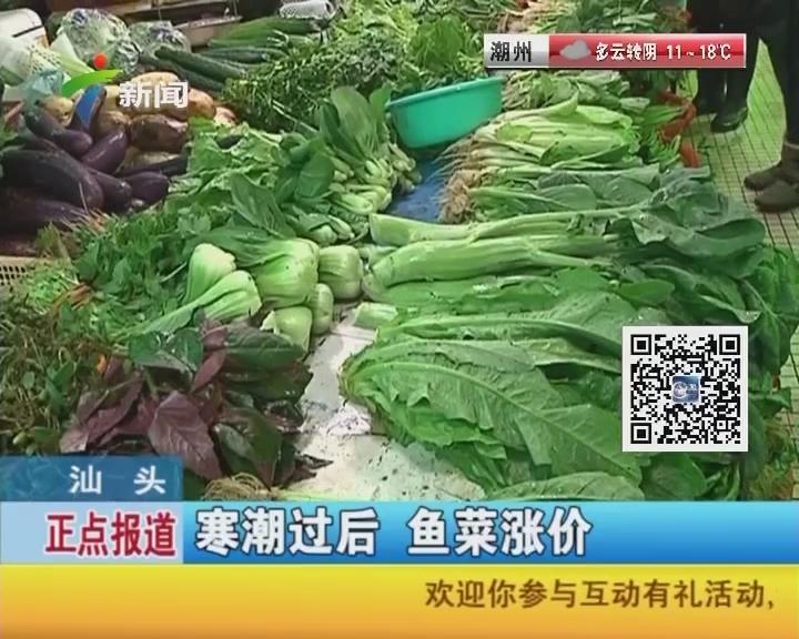 汕头:寒潮过后 鱼菜涨价