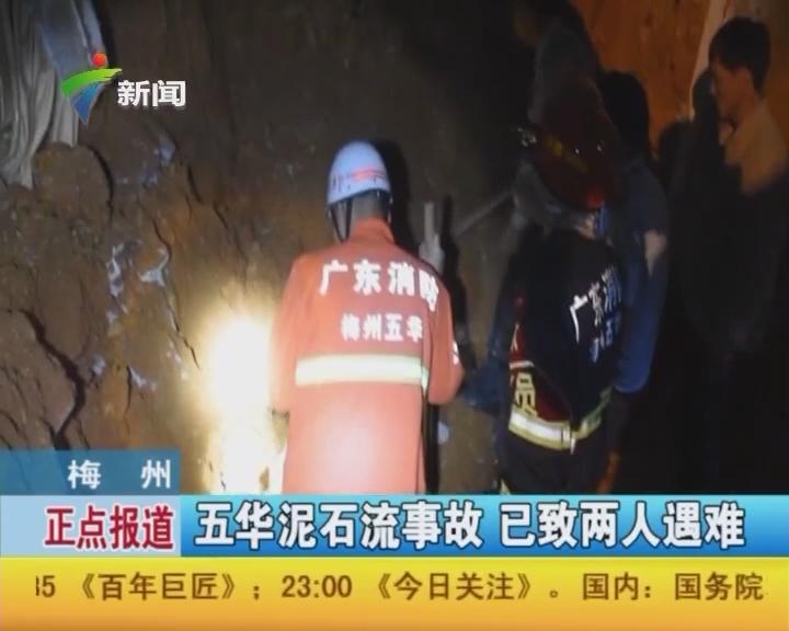梅州:五华泥石流事故 已致两人遇难