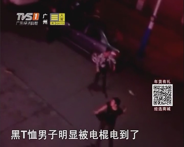 江门:醉酒男借酒行凶 街头上演全武行