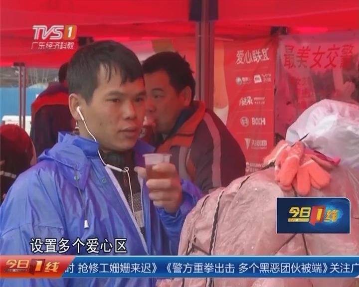 云浮:摩托大军开始返乡 摩托客?#19979;?冷雨归途不孤单!