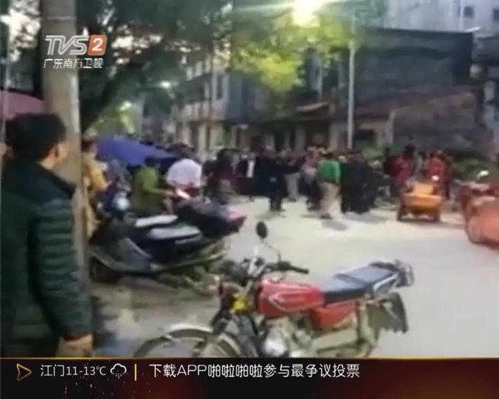 惠州博罗:男子当街捅老父 众邻居仗义夺刀