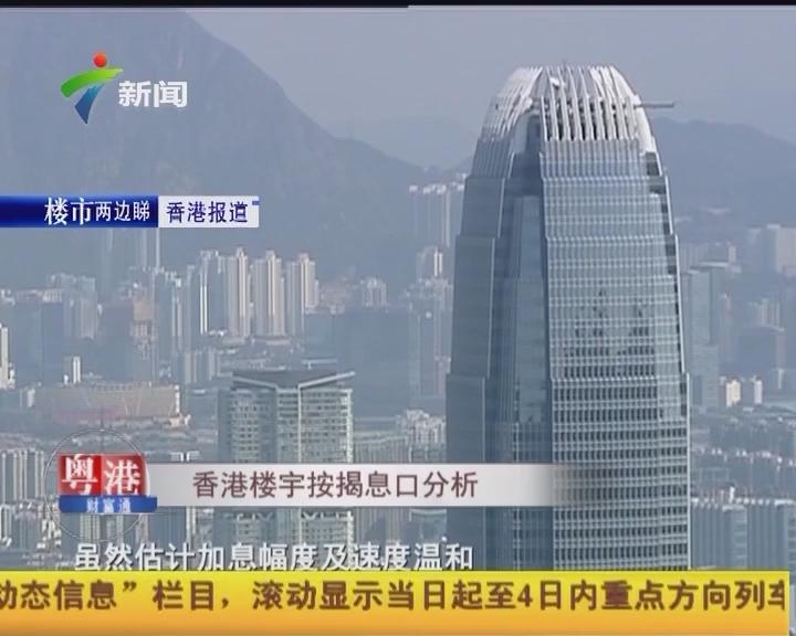 香港楼宇按揭息口分析