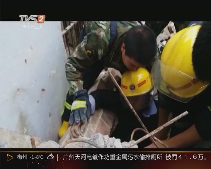 肇庆:横梁倒塌 1名施工人员被压