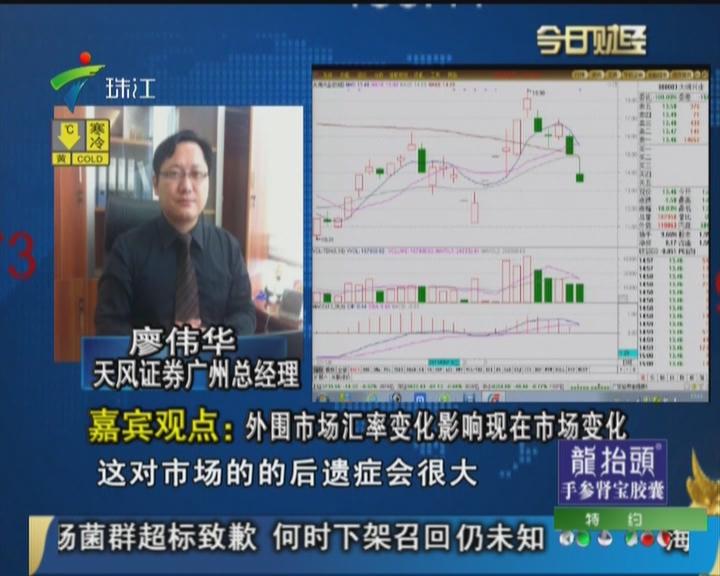 嘉宾观点:外围市场汇率变化影响现在市场变化
