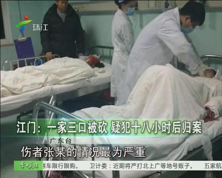 江门:一家三口被砍 疑犯十八小时后归案