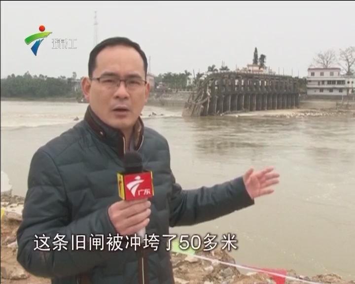 追踪:阳江双捷栏河闸工程全面复工