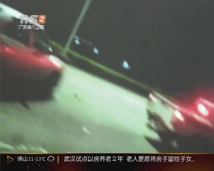 珠海:男子驾套牌车被查 撞警车想逃跑