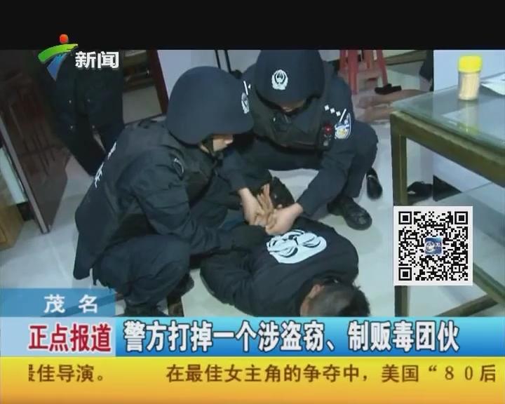 茂名:警方打掉一个涉盗窃、制贩毒团伙