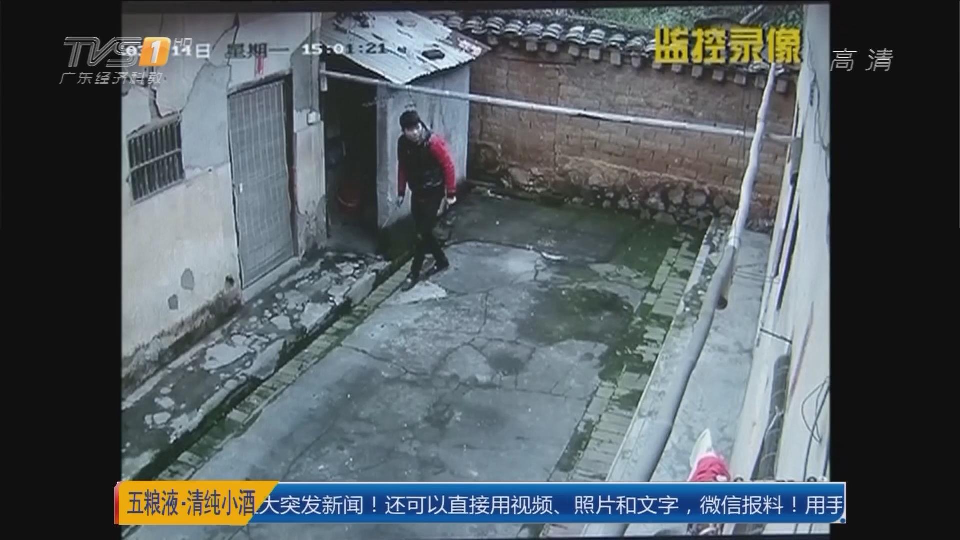梅州:独居老人靠监控 逮住入屋贼