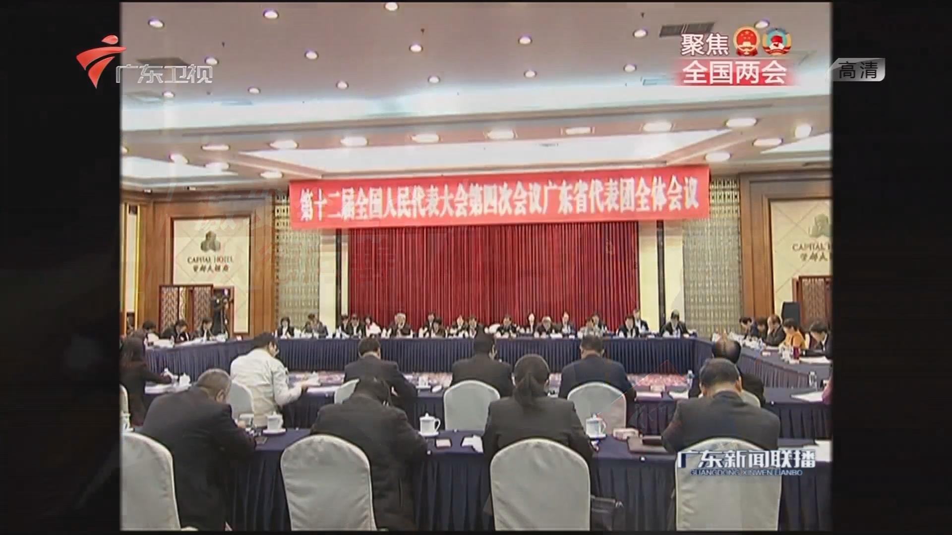广东代表团举行全体会议 审议慈善法草案