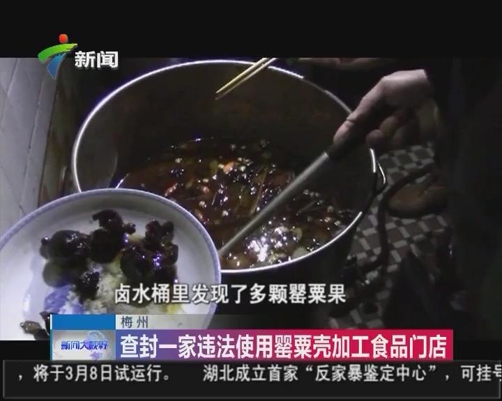 梅州:查封一家违法使用罂粟壳加工食品门店