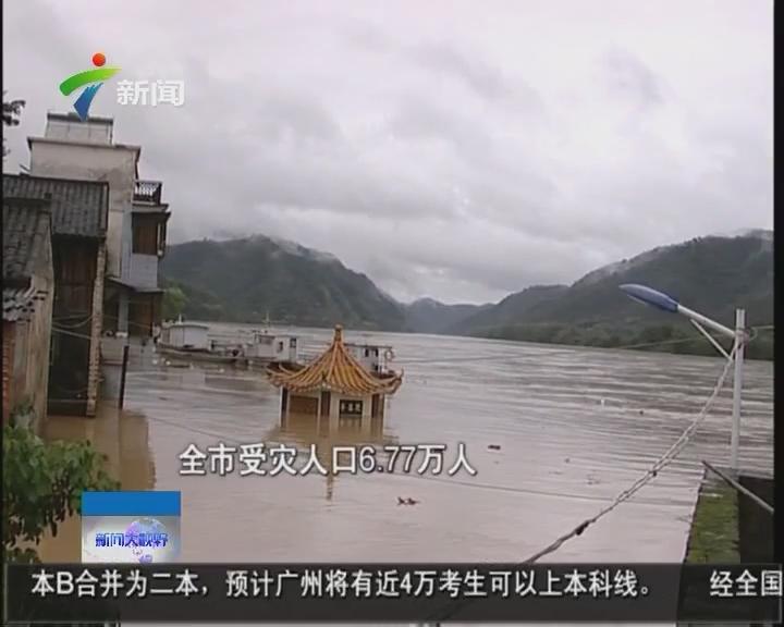 梅州:50个镇受洪灾 广东4人因灾死亡