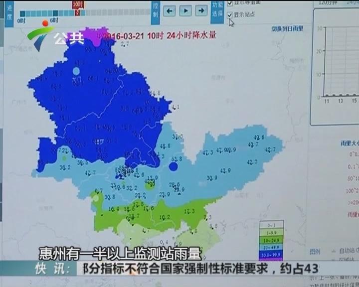 惠州:受暴雨影响 提前20天进入汛期