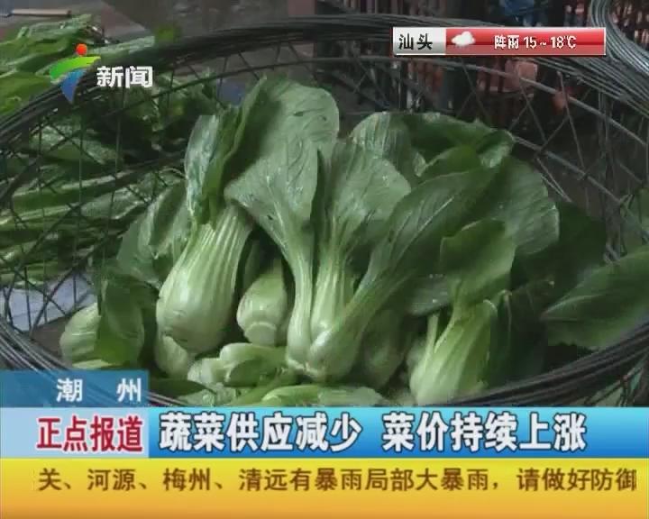 潮州:蔬菜供应减少 菜价持续上涨