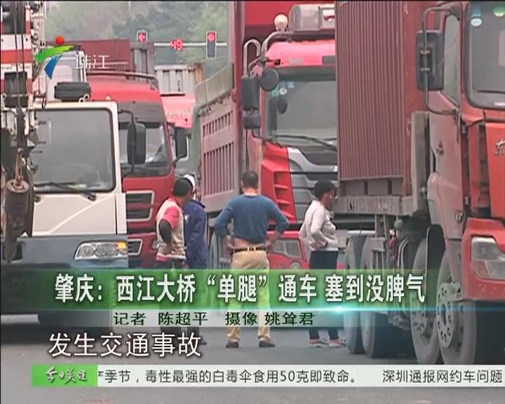 """肇庆:西江大桥""""单腿""""通车 塞到没脾气"""