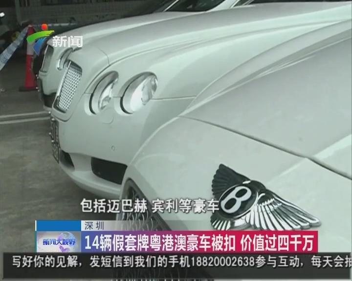 深圳:14辆假套牌粤港澳豪车被扣 价值过四千万