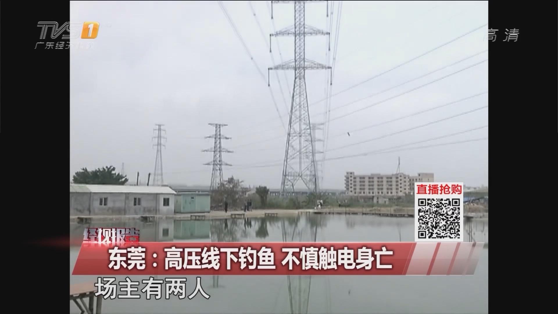 东莞:高压线下钓鱼 不慎触电身亡