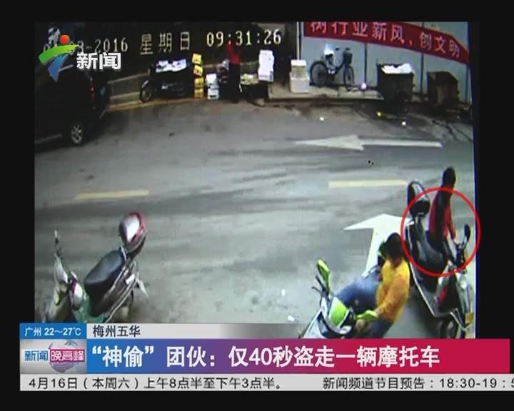 """梅州五华 """"神偷""""团伙:仅40秒盗走一辆摩托车"""