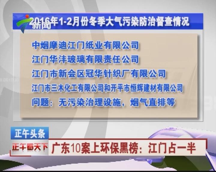 广东10案上环保黑榜:江门占一半