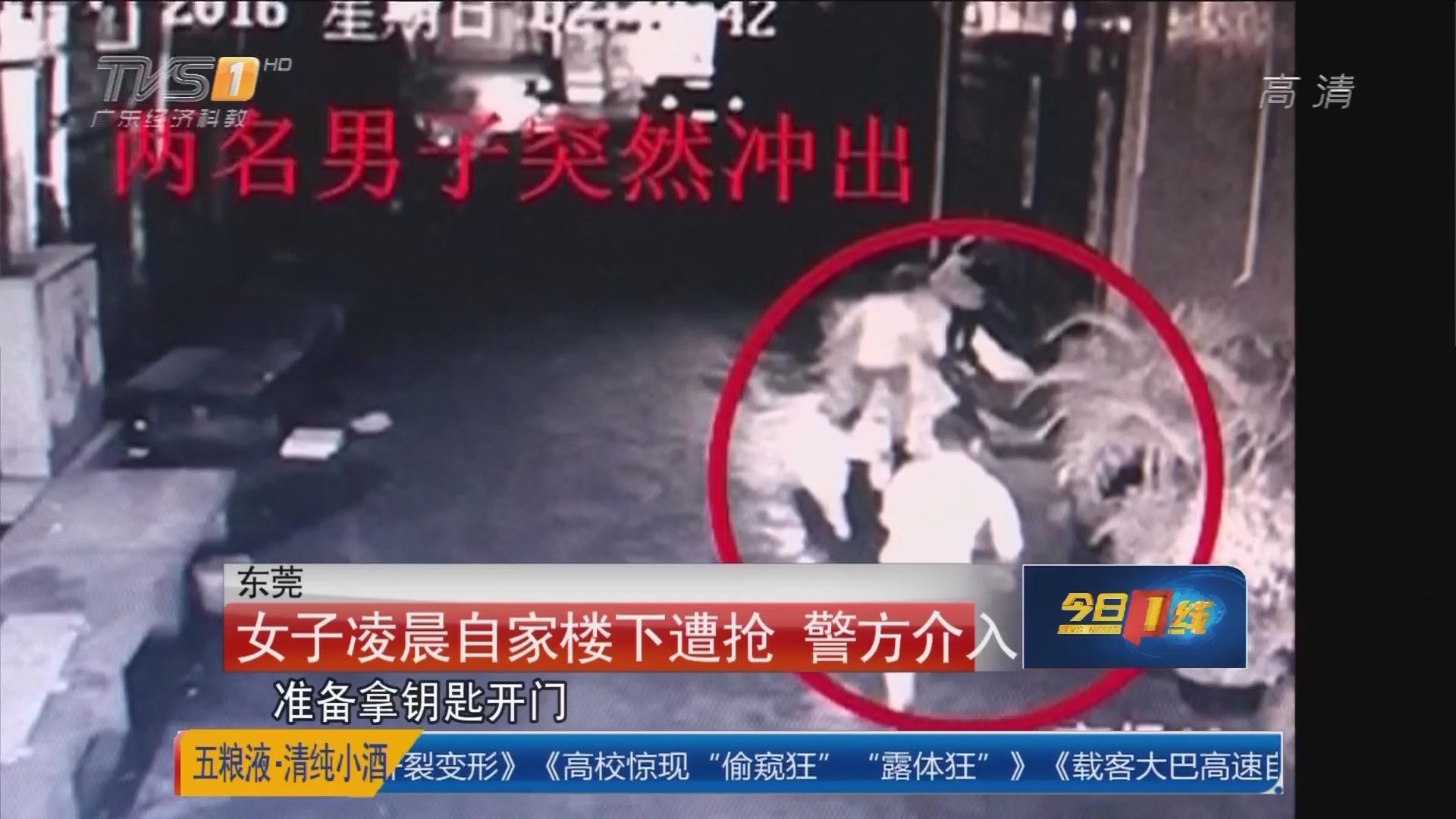 东莞:女子凌晨自家楼下遭抢 警方介入