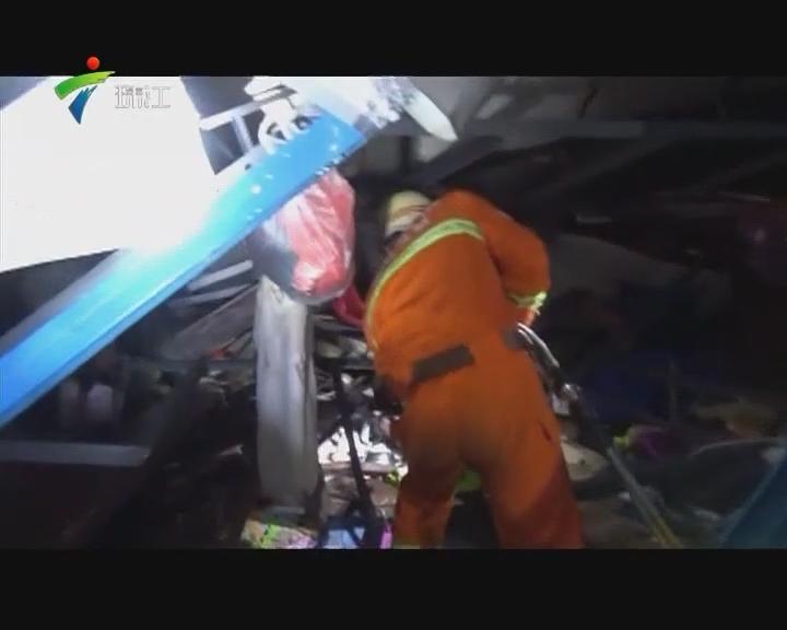清远:一工地板房被大风吹塌 致1人死亡