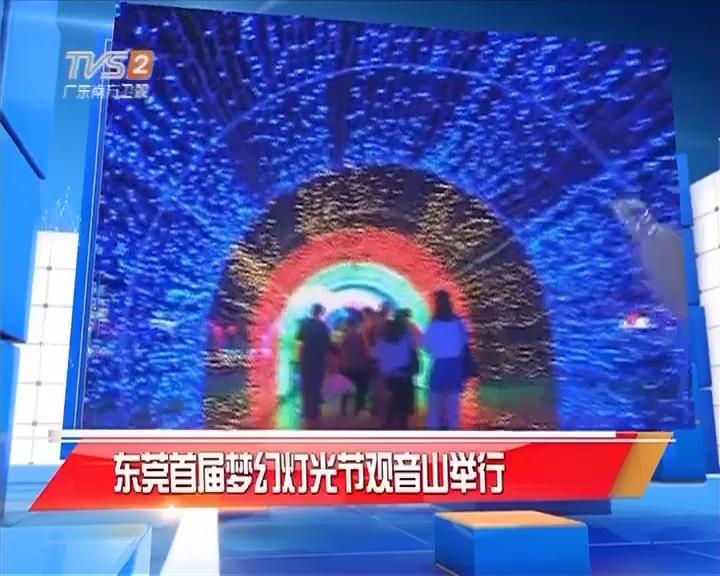 东莞首届梦幻灯光节观音山举行