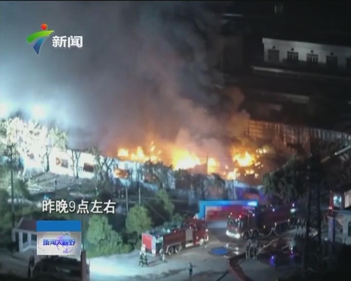 江门蓬江区:险!江门一化工厂突发大火