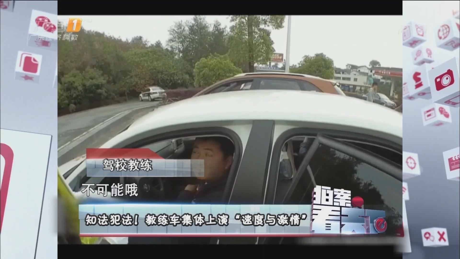 """知法犯法!教练车集体上演""""速度与激情"""""""
