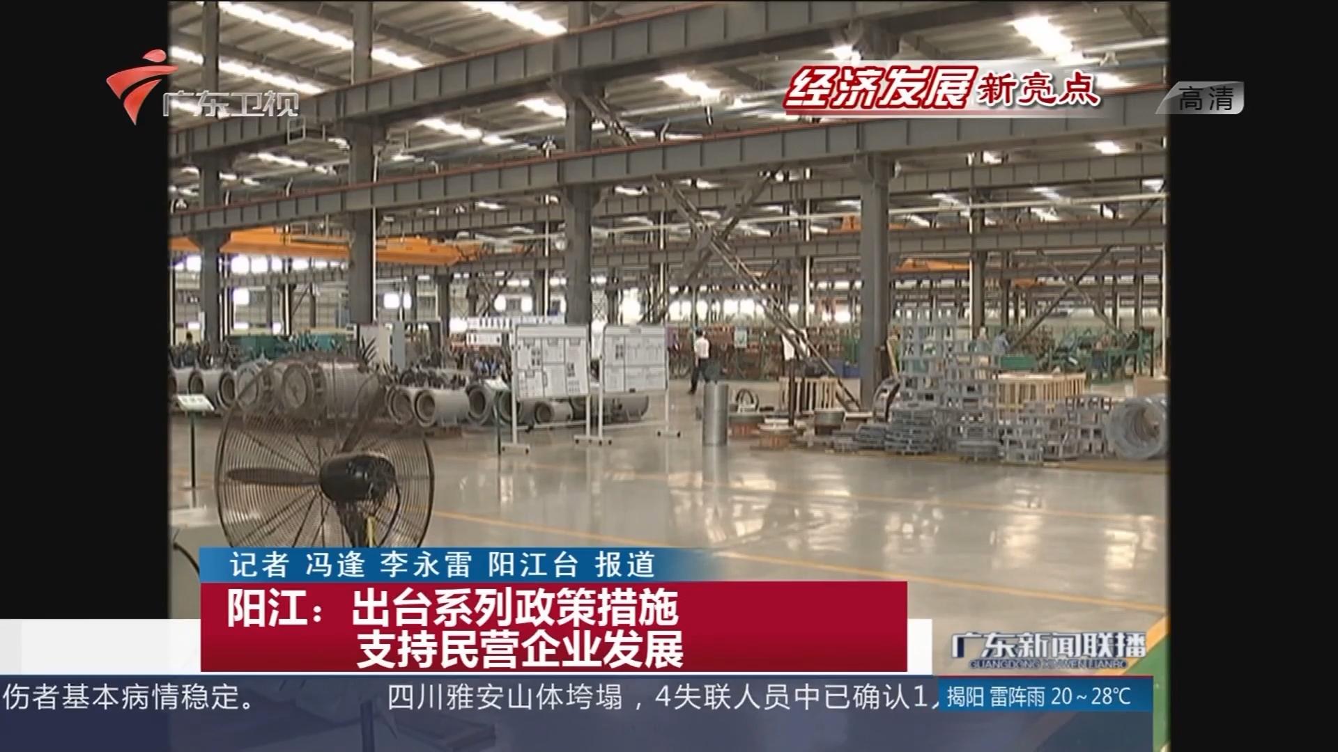 阳江:出台系列政策措施 支持民营企业发展