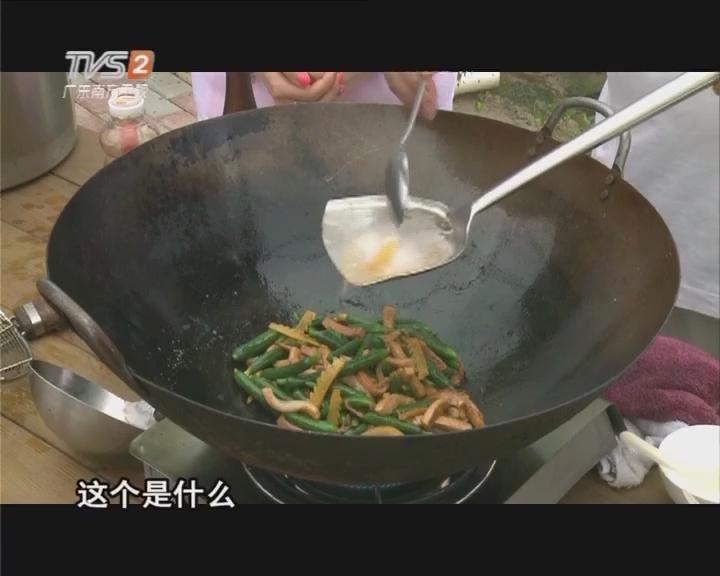 青瓜花炒烧肉(上)