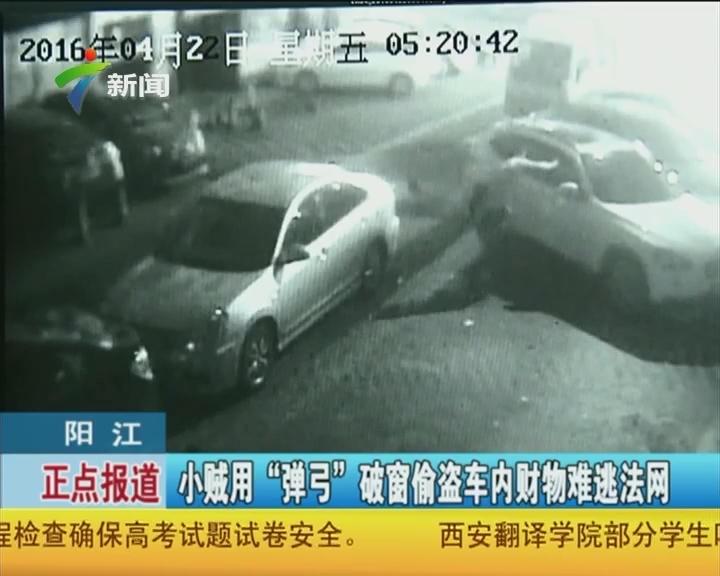 """阳江:小贼用""""弹弓""""破窗偷盗车内财物难逃法网"""