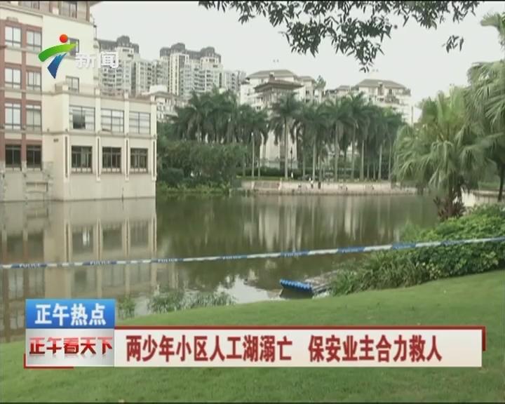两少年小区人工湖溺亡 保安业主合力救人