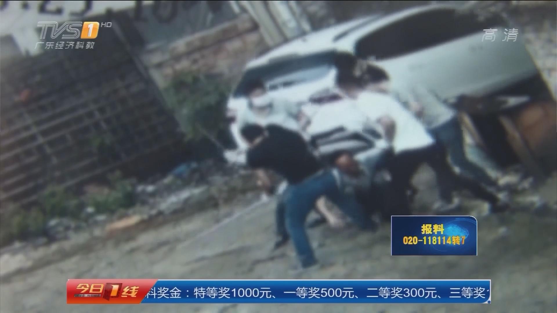 惠州:六旬老人遭蒙面男围殴 警方介入