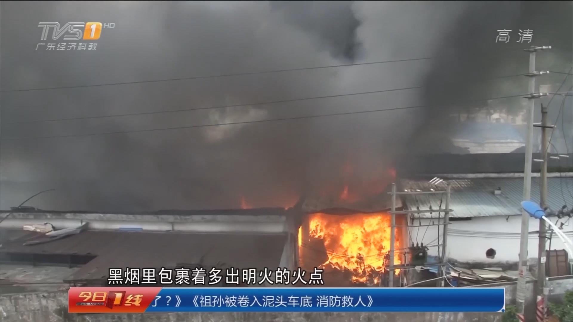 惠州惠阳:火场隔壁是化工厂 消防紧急出动