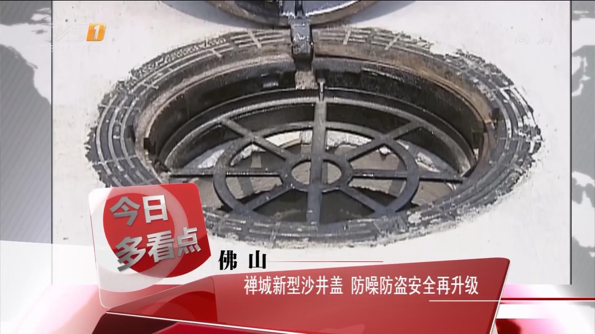 佛山:禅城新型沙井盖 防噪防盗安全再升级