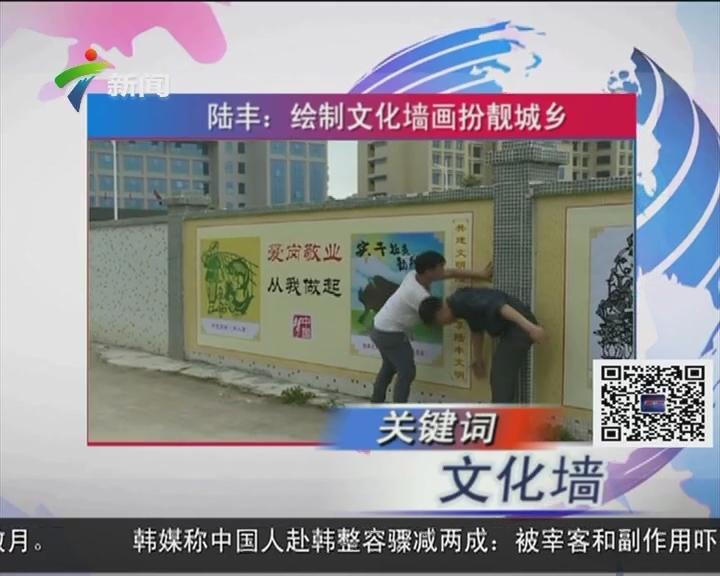 陆丰:绘制文化墙画扮靓城乡