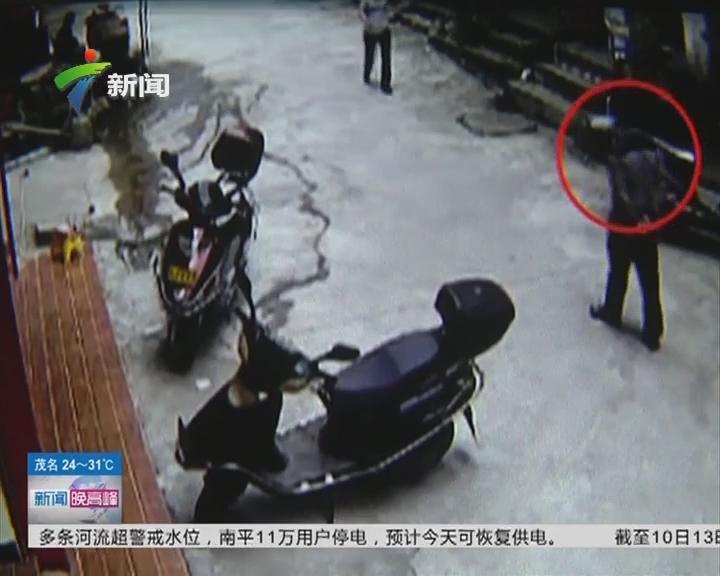 梅州:男子独自徘徊 盗取摩托车